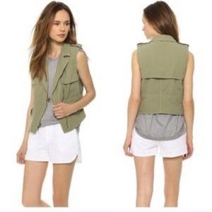 Madewell army green vest